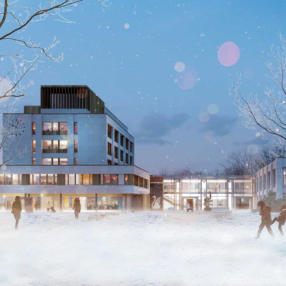 Gjøvik Rådhus - 11.300 m2 Totalrehabilitering 2016-2018 (Pågående)