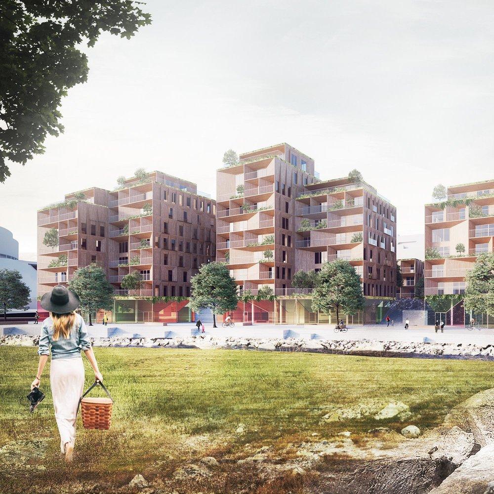 Farverikvartalet - Gjøviks støsrste boligprosjekt