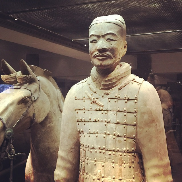 We visited the Terracotta Army museum and excavation pits! It is estimated that more than 8,000 soldiers and 530 horses were buried in this location by order of Qin Shi Huang, the first emperor of China. #purdueinchina