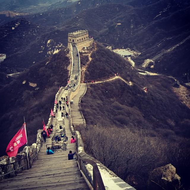 Climbing the Great Wall! #purdueinchina