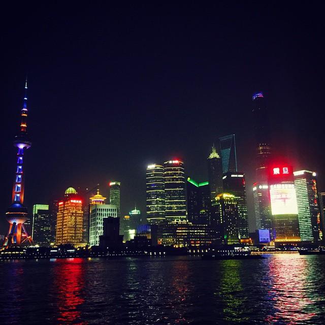 Walking around the Bund on a beautiful Friday night. #purdueinchina