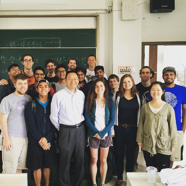 Last day of class! Many thanks to Professor Li and all our other instructors for a great semester at SJTU. #purdueinchina