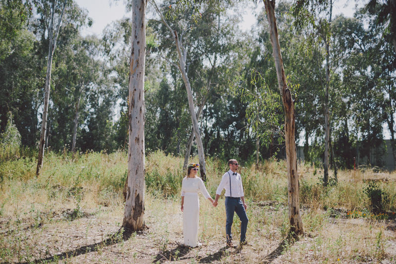 אסנת וערן חתונה בחגיגה בכפר