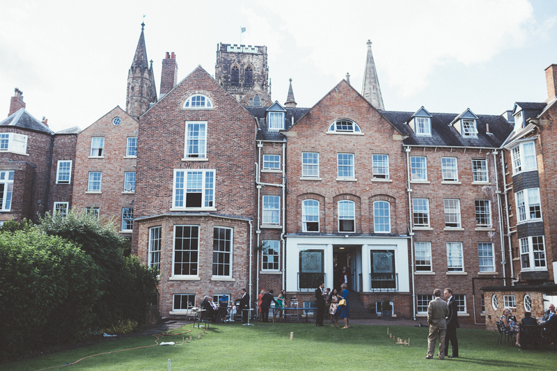 wedding at st chad's college