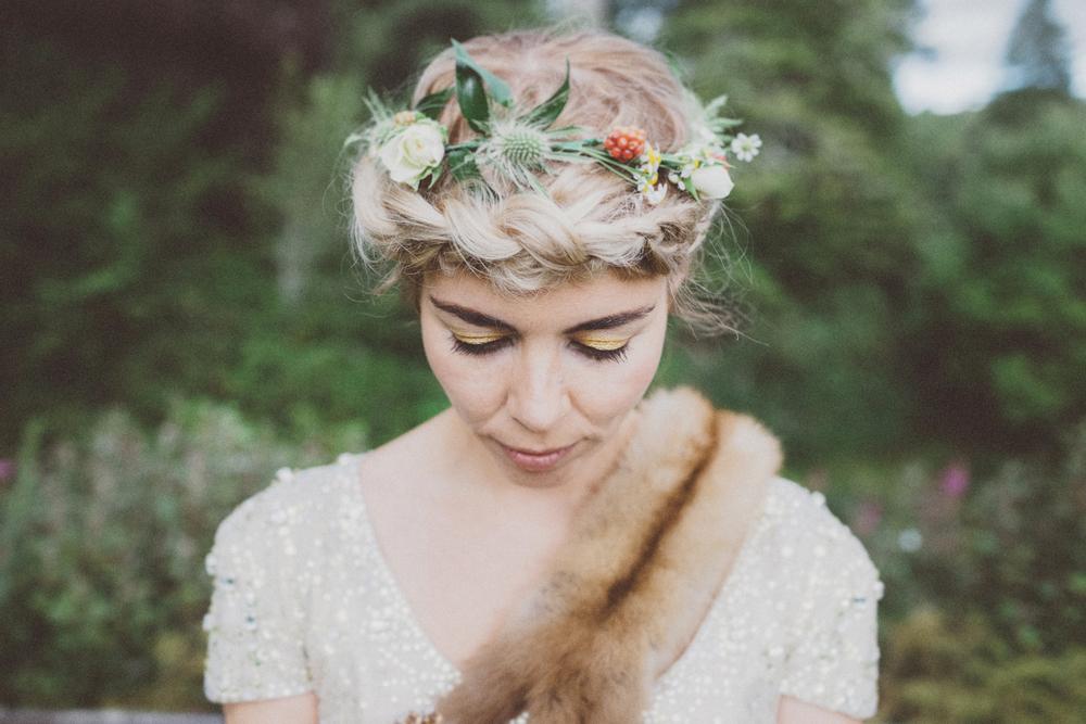 Lower Your Eyelid  // Blair Castle Wedding
