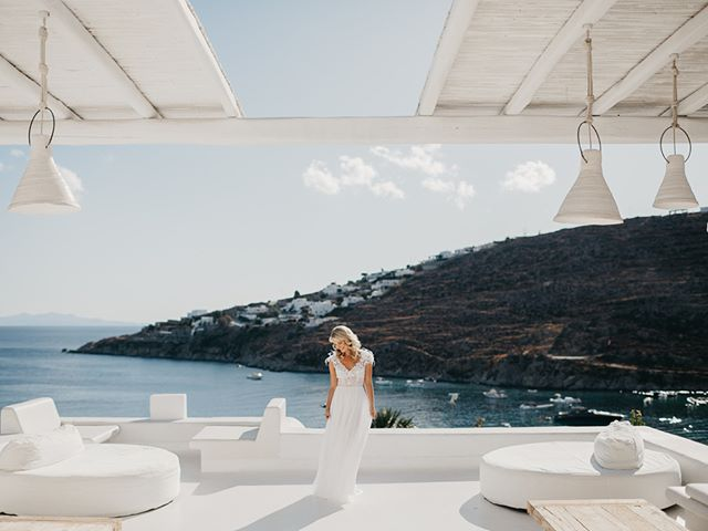 Another one from Zoe & Rory's wedding in Mykonos, what an epic location. #thestoryofzory Planning by @the12events  Amazing dress by @mirazwillinger