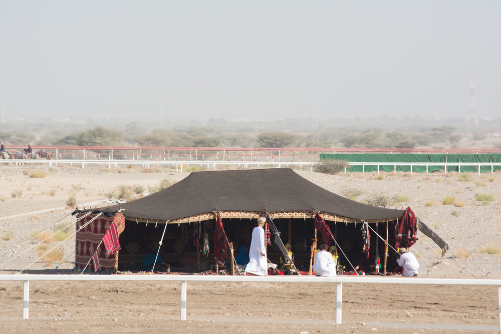 Tents for visitors from the desert.