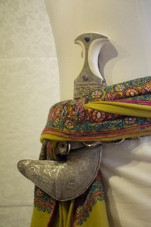 A khanjar is a dagar worn on a belt and typically hand made of silver.