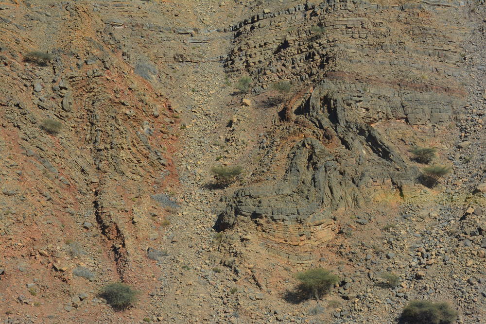 The colors of the Omani hillside.