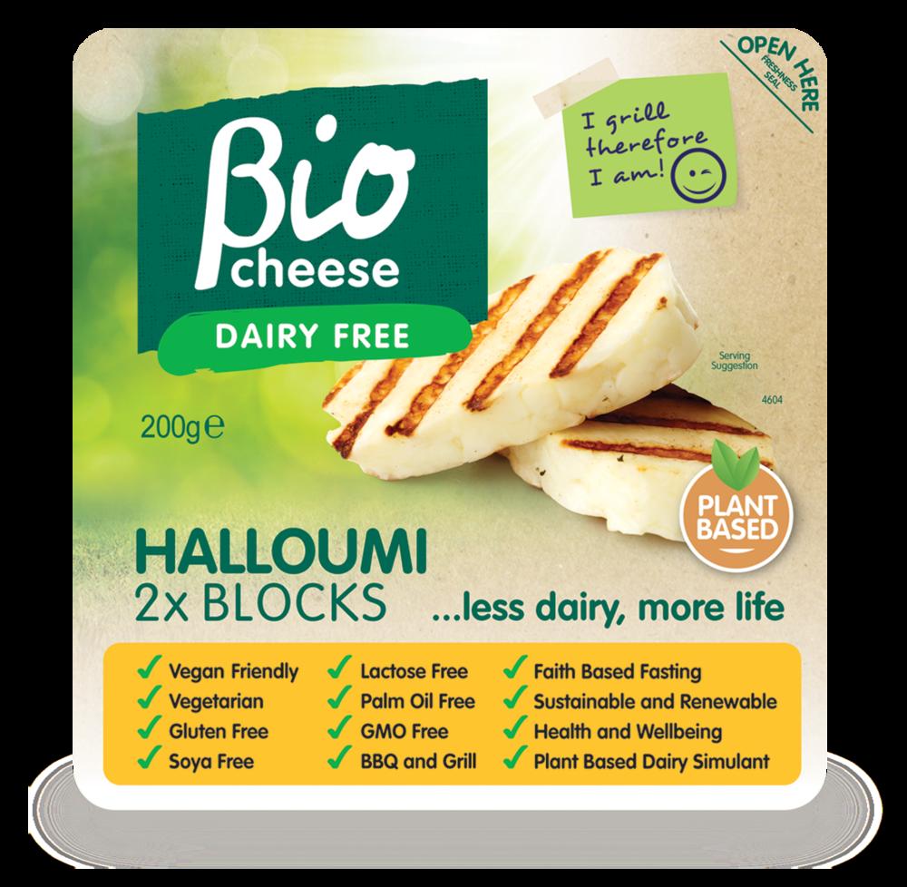 bio cheese halloumi vegan cheese