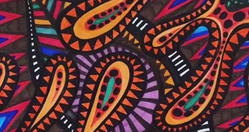 Deyalhe da capa do ÁlbumMacumba Afrocimética