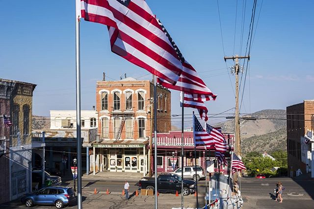 Right back where I started. Happy 4th of July . . . #america #americana #virginiacity #nevada #nv #west #desert #deserttown #smalltown #4thofjuly #independenceday #americanflag #flags #patriotism #architecture #1800s #summer #july #landscapephotography #landscape #photography #digitalphotography #fujixpro2 #fujifilm #xpro2 #usa
