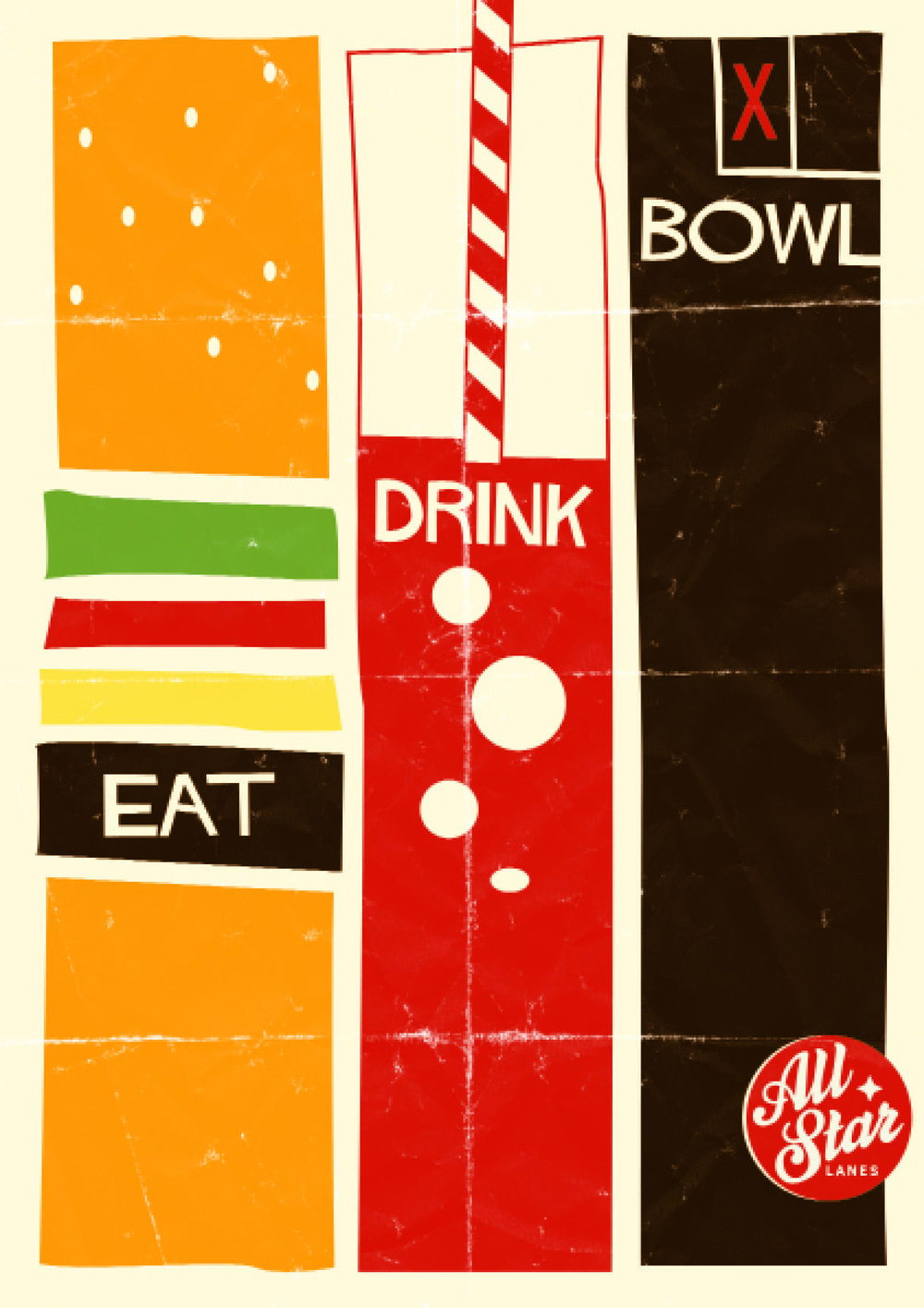 ALL STAR LANES - POSTER DESIGN