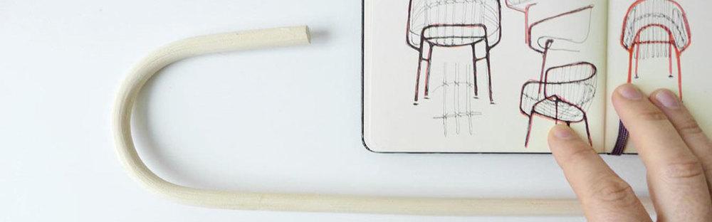 Lucidi Pevere: sedia Raphia per Casamania, schizzi di progetto