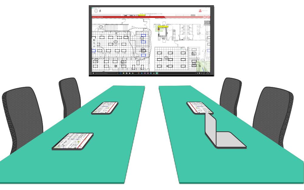 Esempio di sala riunioni di una commissione edilizia
