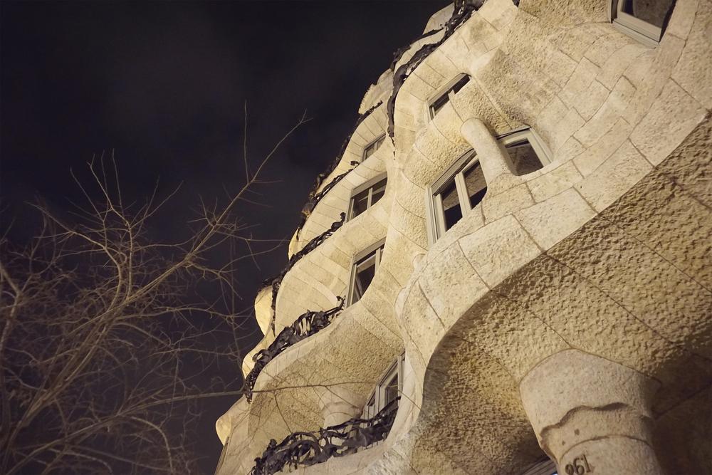 Exterior,  Casa Mila La Pedrera, Barcelona Spain