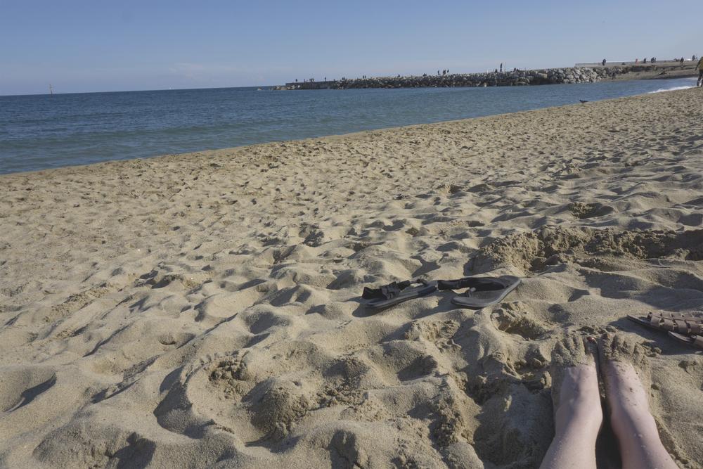 Beach toes, Barcelona, Spain