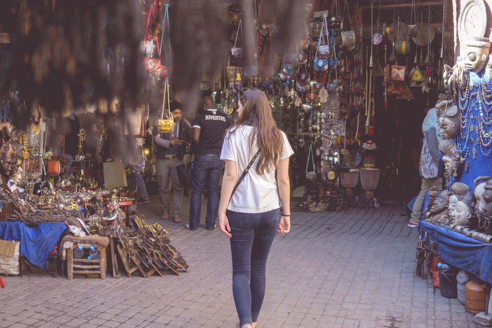 Souk exploring, the Medina of Marrakech, Morocco