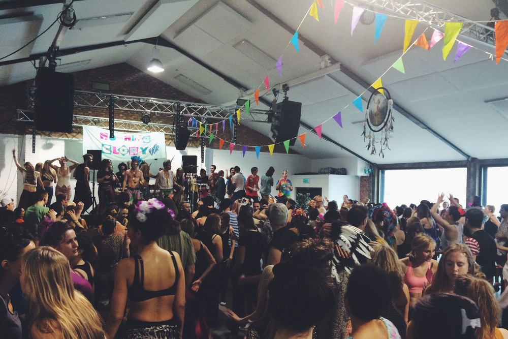 Litterally as we walked in the door, Morning Gloryville, Oval Space,Bethel Green, London, UK