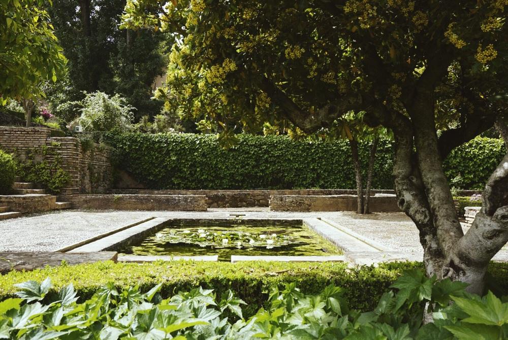 The Alhambra Gardens, Granada, Spain