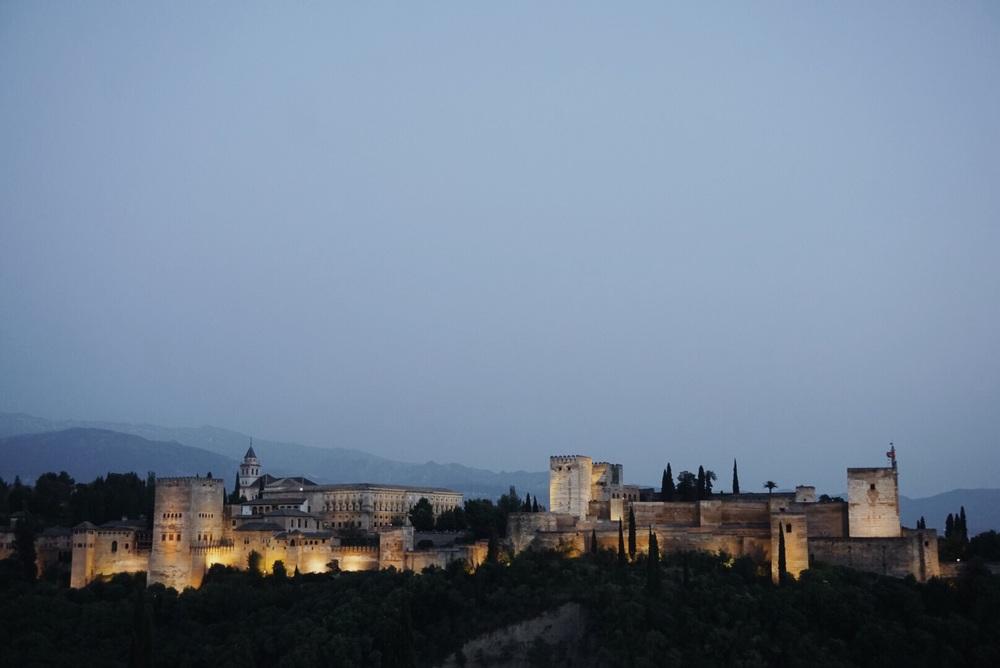 The Alhambra from San Nicolas, Granada, Spain