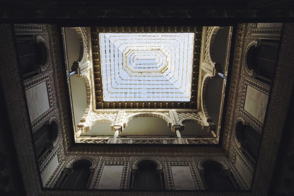 Interior of the Alcázar de Seville, Seville, Spain