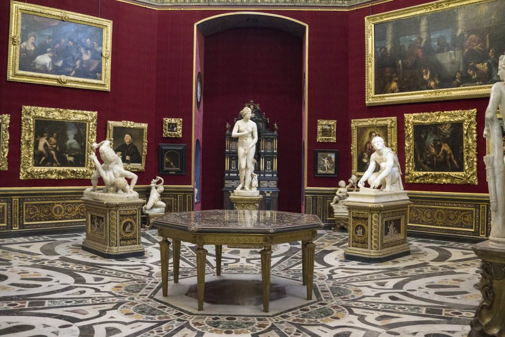 Room in  Uffizi Gallery,   Florence  , Firenze, Italy