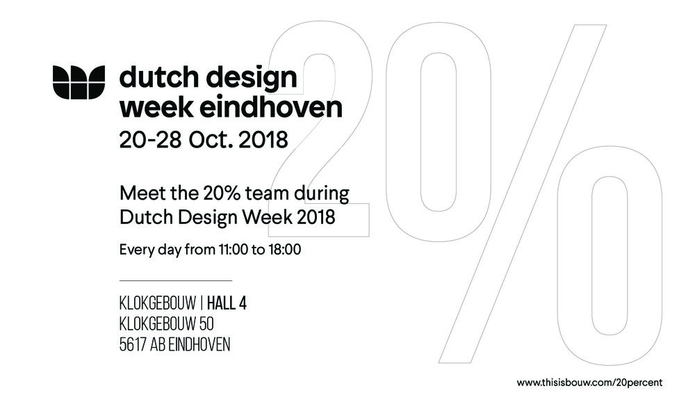 20% is at DDW! - Come visit us