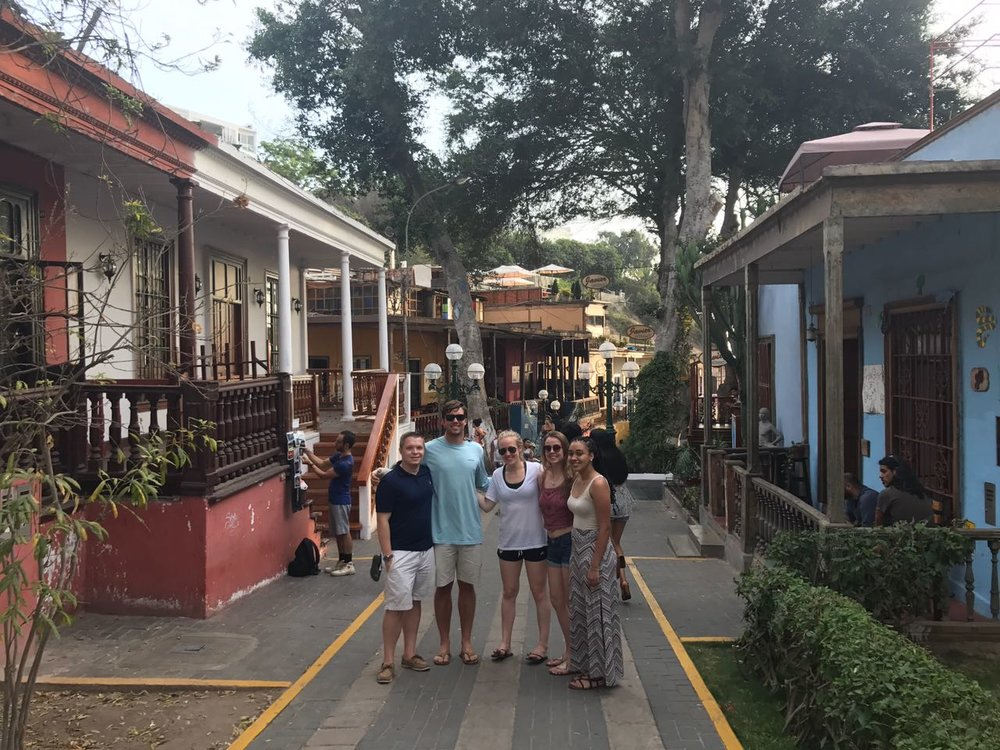 Exploring the coast in the music and artsy district of Barranco.