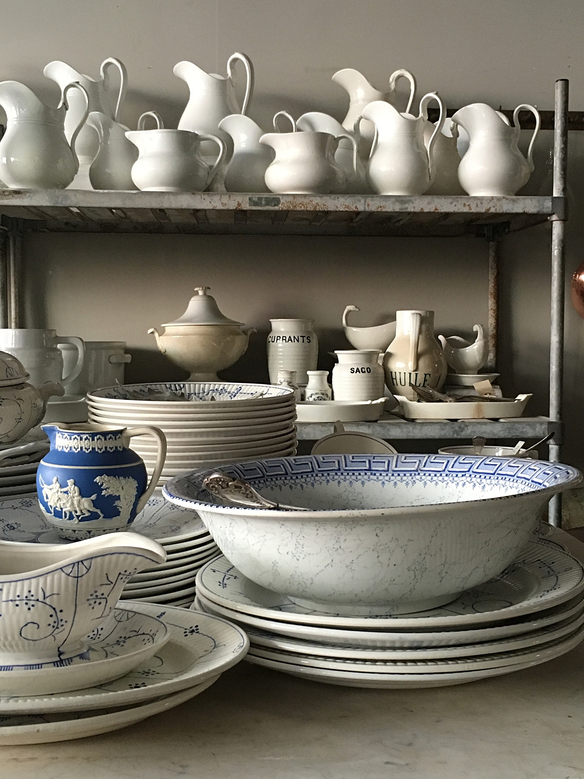 Antique ironstone and white decor inspiration. French Farmhouse White Decorating Ideas.