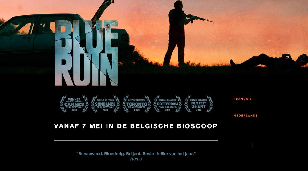 Blue ruin - website design