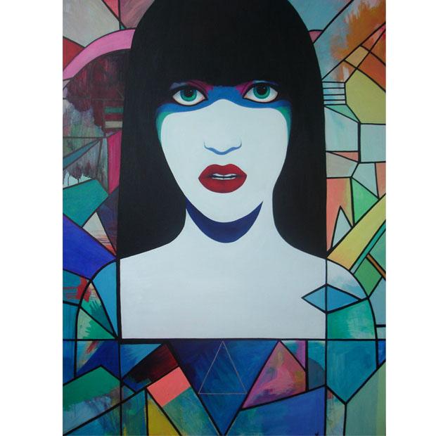 Ave, acrylics on canvas, 120 x 100 cm