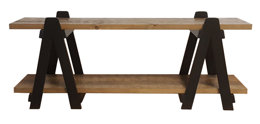 #324 Sawhorse Media Stand - Overall dimensions: 60