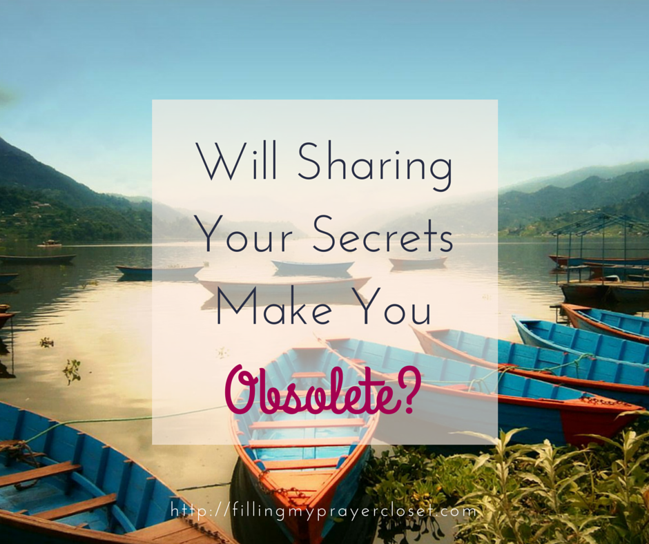 How do you feel about sharing your wisdom? What are you afraid of? Will Sharing Your Secrets Make You Obsolete? by @faithfulsocial