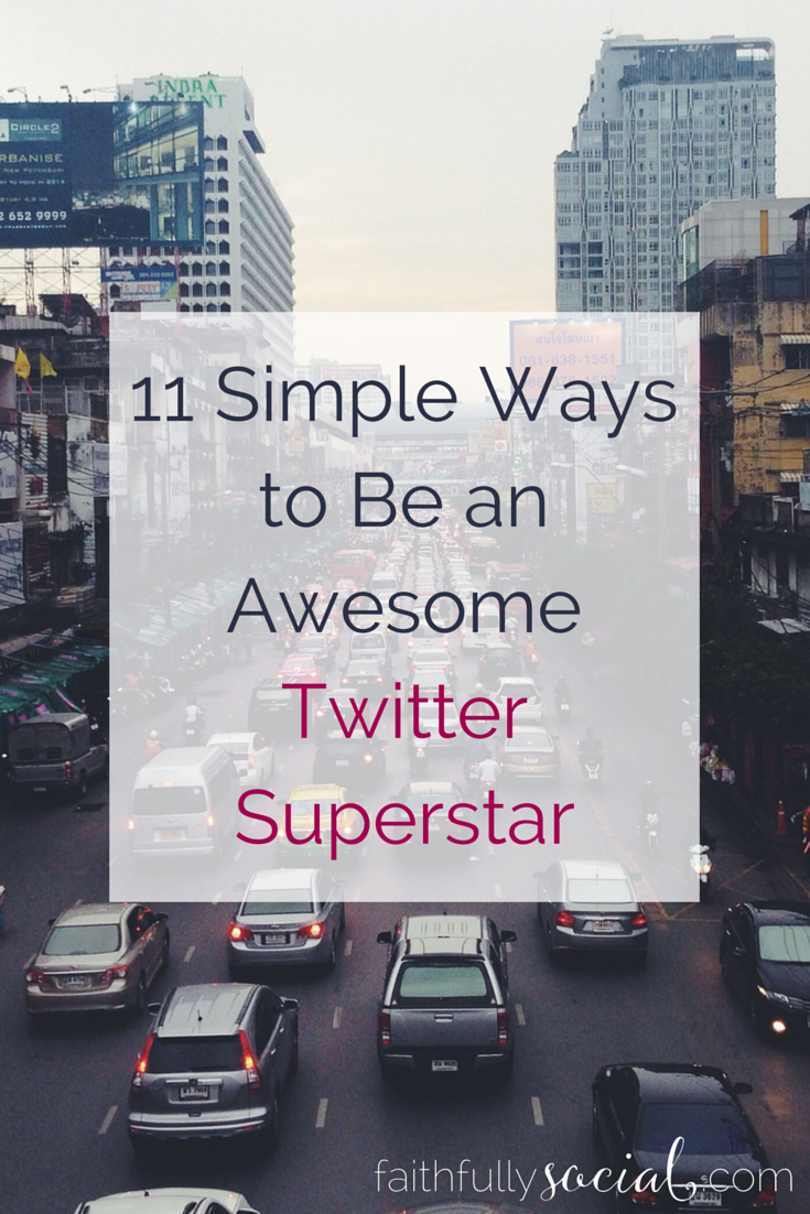 11 Simple Ways to Be an Awesome Twitter Superstar. Mary asks me how she can get be a Twitter professional in a month. I share my twitter tips and tricks for how I grew my following 530+ followers since the end of February! @faithfulsocial