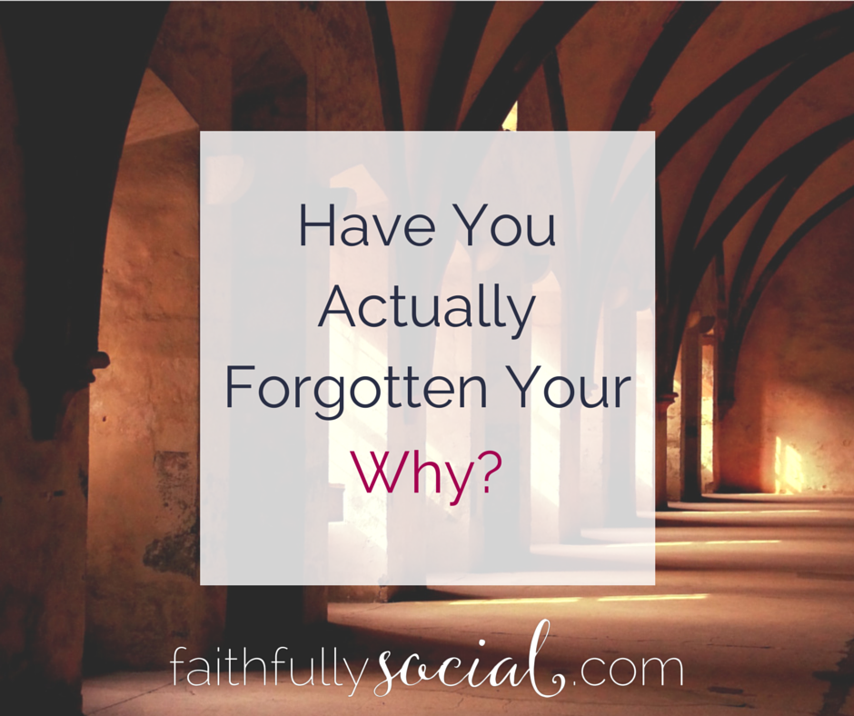 Have you forgotten why you blog? Why you started your own business? Why you do anything? In this vlog, I share examples of what happens when you forget your why and how to think about moving past it by @faithfulsocial
