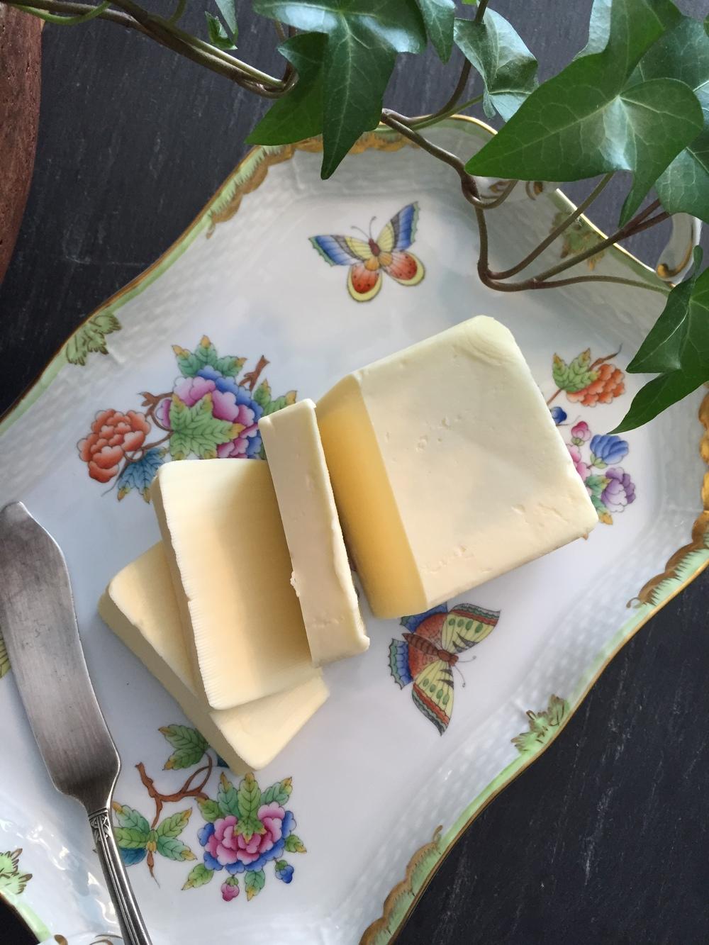 84% butter on Herend Porcelain