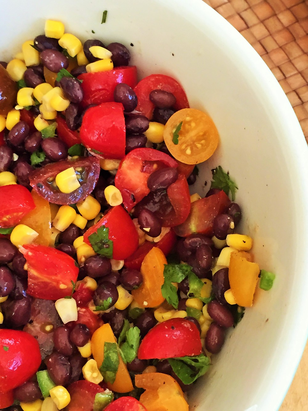 Corn, Black Bean, Tomato Salad