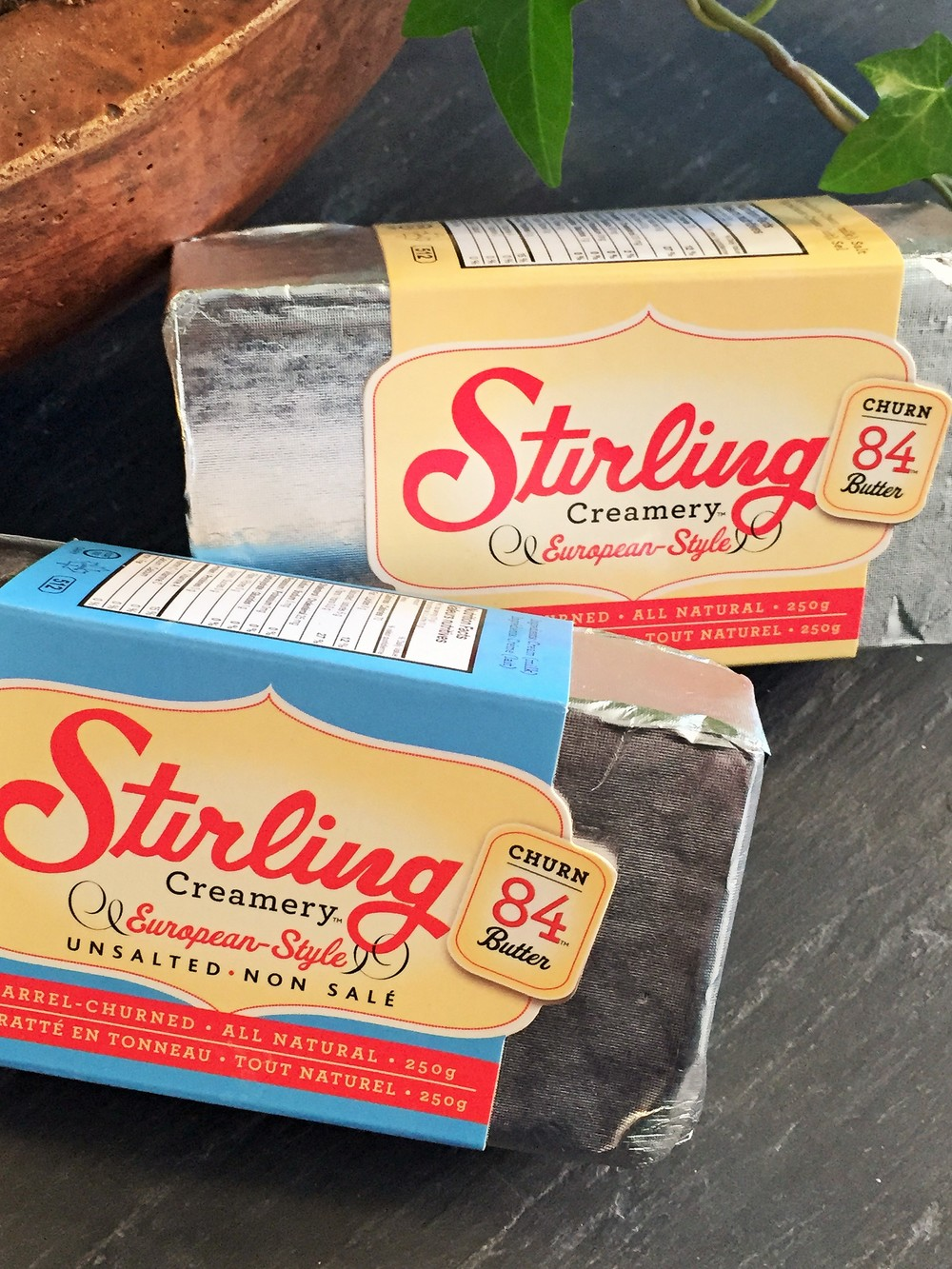 Easier these days to find Stirling 84, BUT... sometimes they only have salted, and baking requires unsalted.