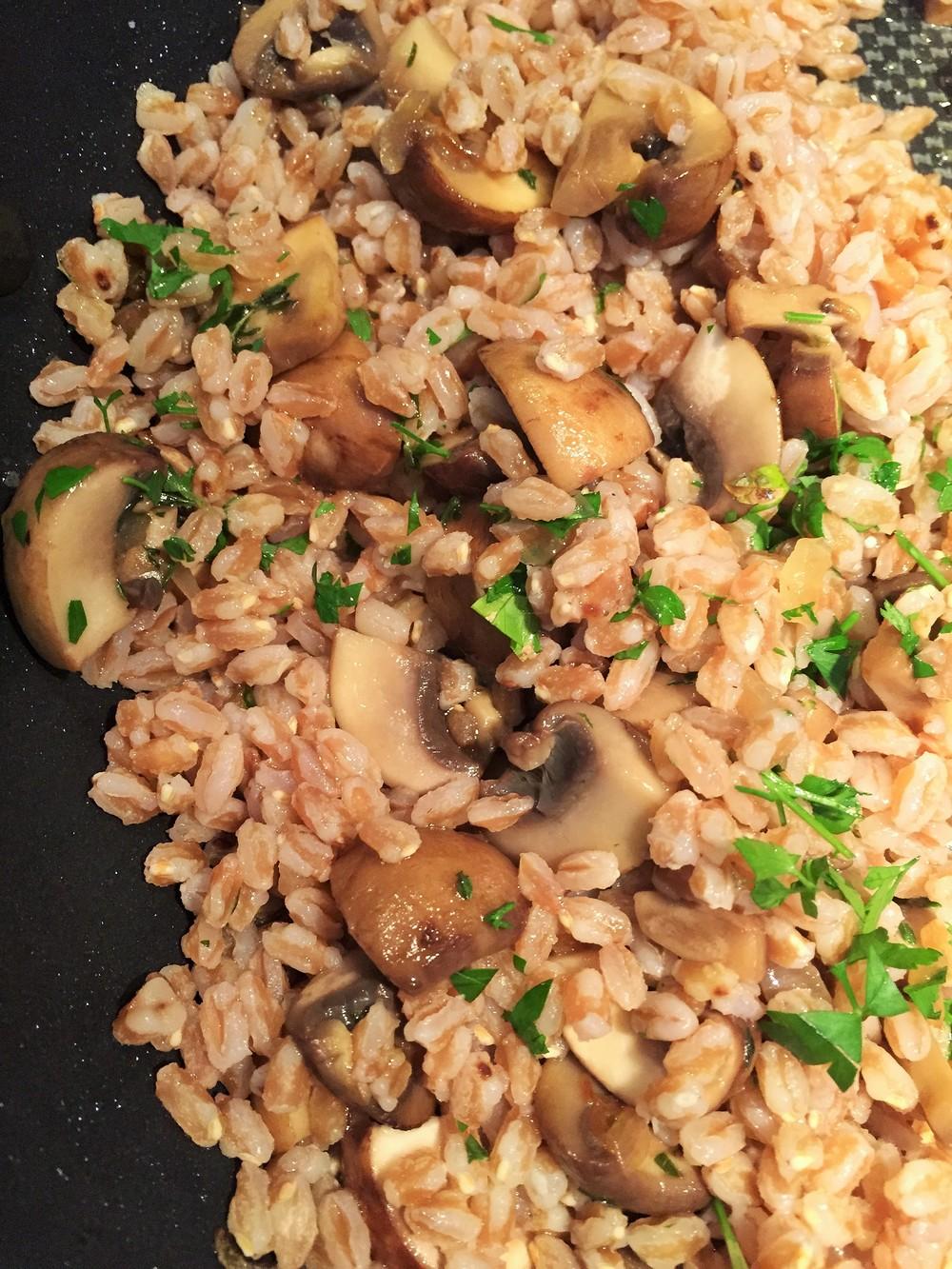 Farro w/ Mushrooms & Thyme