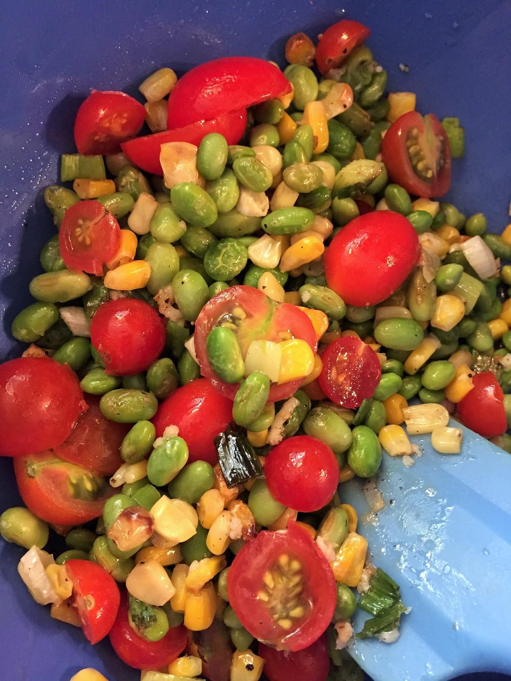 Roasted Edamame Salad