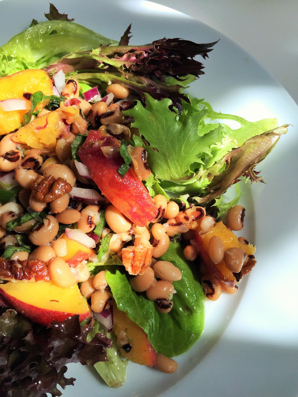 Black-eyed Pea Salad w Peaches