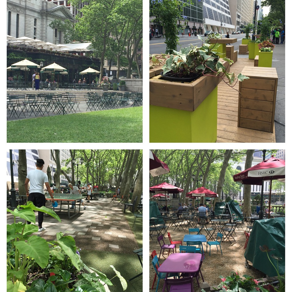 Bryant Park  - my favourite!
