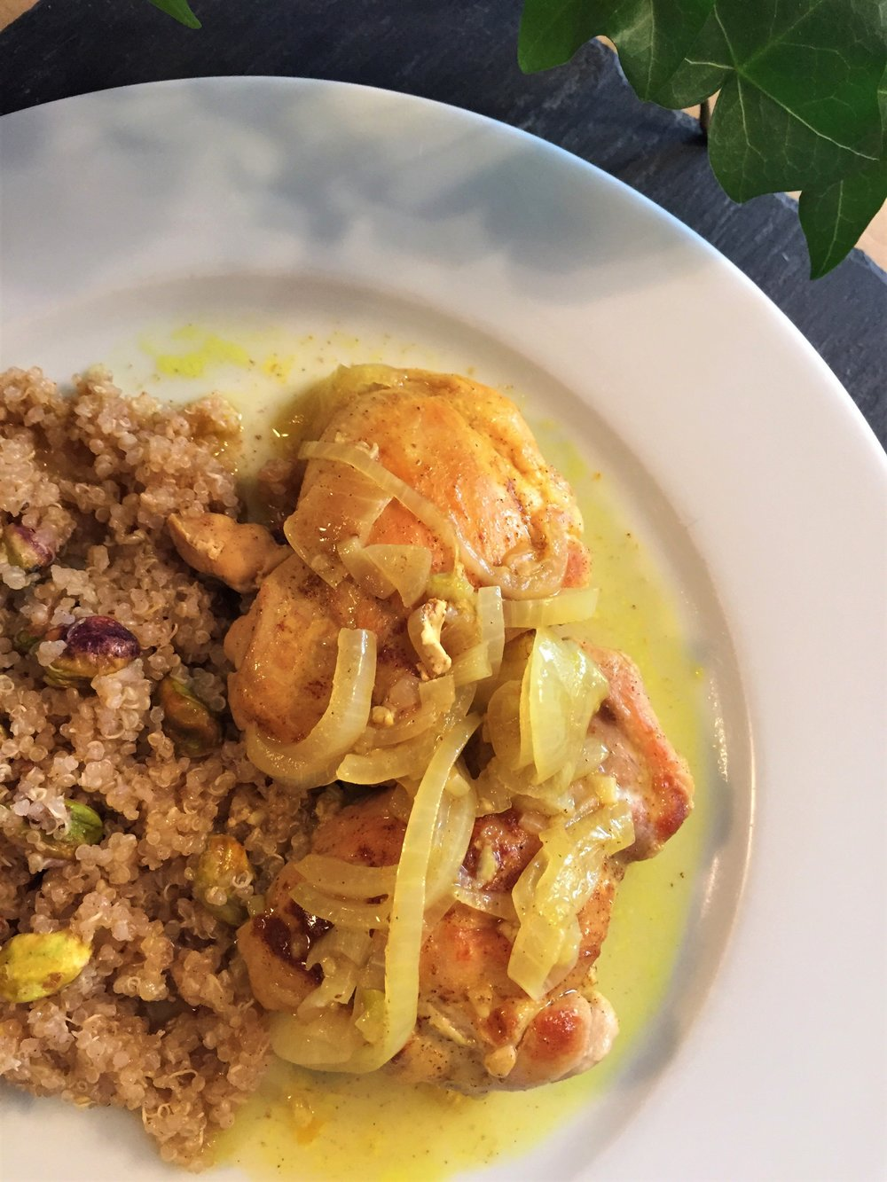 Moroccan Chicken on Quinoa