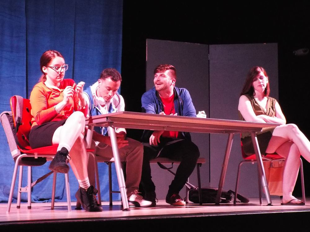 From left: Rhiannon Antico (Marcy), Ian LaChance (Matt), Isaac Newberry (Van), and Casey Polomaine (Tricia)