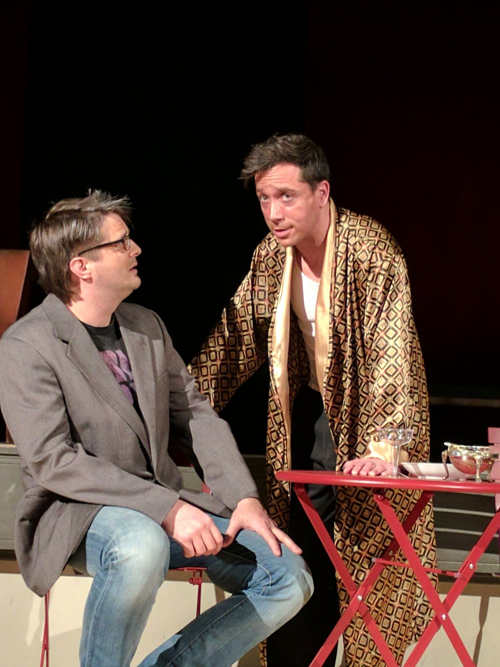 Isaac Newberry (L) as Alan and Ian LaChance (R) as Dorian