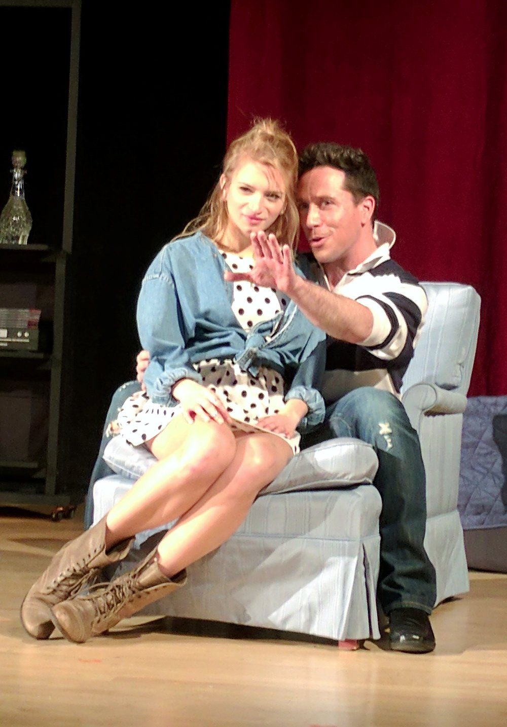 Lucy Miller (L) as Sybil and Ian LaChance (R) as Dorian