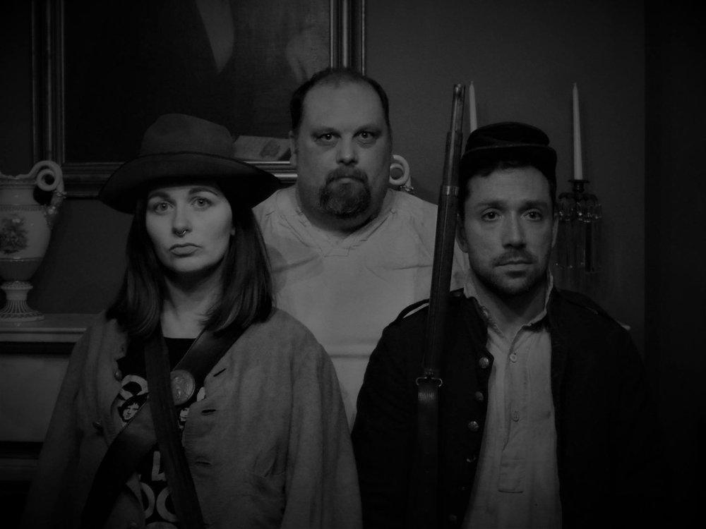 From Left: Leah (Casey Polomaine), Cal (Aaron Holbritter), & Tom (Ian LaChance)