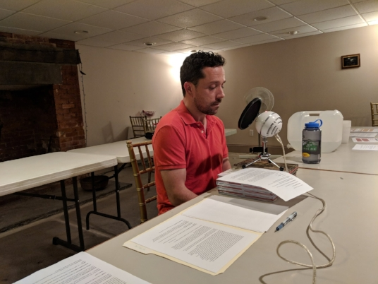 Actor and Creative License Founding Member Ian LaChance records his dialogue as Dirck Ten Broeck