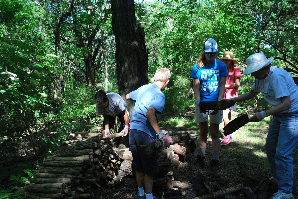 Youth help get campsites ready at Hidden Valley. Photography by Malka Hampton